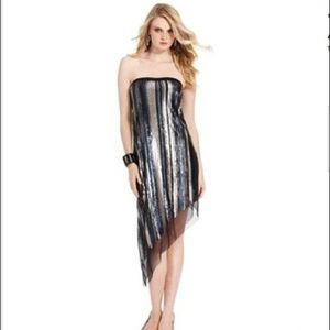 Jessica Simpson sequin strapless dress